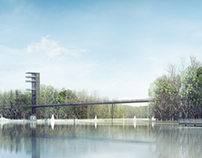 Footbridge by the river Nette