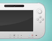 Wii U Controller (Free Vector .PSD)
