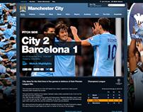 Manchester CIty Pitch Side