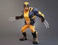 Wolverine - Low Poly Game Character