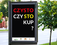 """CZYSTO"" social campaign poster"