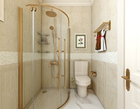bathroom in gold