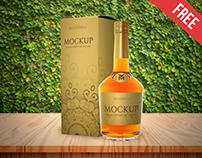Brandy Whisky or Cognac – Free PSD Mockup