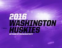 2016 Washington Huskies Artwork