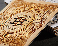 Wooden Business Cards with Letterpress