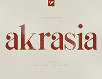 AKRASIA TYPEFACE - SVG + SOLID FONTS