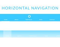 UI Navigation Horizontal PSD Drag and Drop