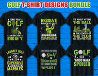Golf T Shirt Design Bundle