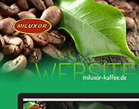 Miluxor - Kaffee / Website