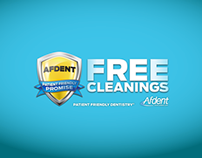 Afdent Dental - Free Cleanings POP Materials