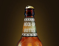 Fresh beer bottle mock-up