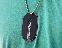 Black Metal Etched Dog Tag