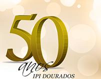 Logo Aniversário 50 Anos IPI de Dourados