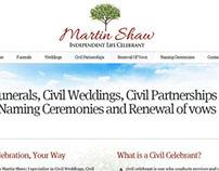 Celebrant Martin Shaw