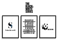 the black & white series / poster collection