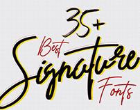 Best Signature Fonts For Designers