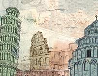 Travel Sketchbook: Wall art