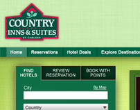 Carlson Hotels Home Page Redesigns