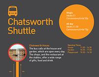 Chatsworth Shuttle Poster - Print Design