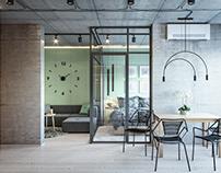 Дизайн однокомнатной квартиры 43кв.м.