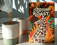Medium Roast - Packaging Illustration -