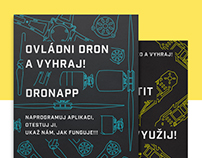 Flyers for events DronApp and FotkaFilm