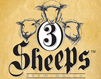 3 Sheeps Brewing Co. Print Work