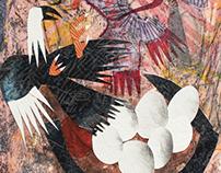 Collage print series nro2: Kokko