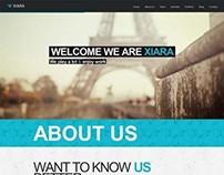 Xiara, WordPress One Page Parallax Theme