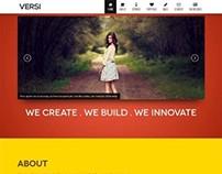 Versi, WordPress Retina Ready OnePage Theme