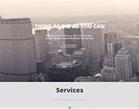 Teo, WordPress Responsive Parallax Single Page Theme