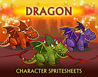 2D Fantasy Dragons Sprite Sheets