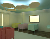 Recovery of a bedroom for girls and a nursery room