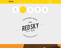 Red Sky - One Page Multi-Purpose PSD Template