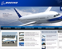Advertisement Landing Page for Boeing