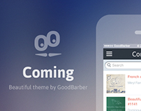 GoodBarber Theme : Coming