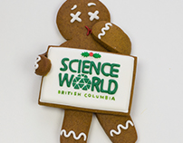 Science World Gingerbread Holiday Card