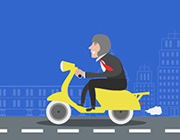 Guy on Scooter (Infographic, only without the info !!!)