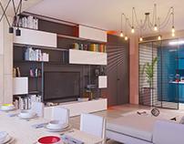 Port baku living+kitchen