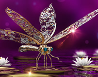 Magical Dragonfly in the magical world