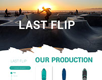 LAST FLIP-E COMMERCE SKATE BOARD