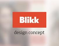 Blikk.hu - design concept
