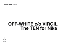 OFF-WHITE × NIKE × CODROPS