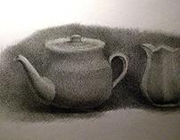 tea set drawings