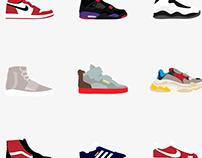 Minimal Shoe Icons