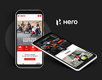 Hero MotoCorp Mobile Website Design