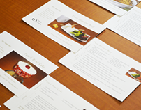 Recipe Cards and Luncheon
