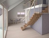 attic house & atelier / pracownia z aneksem mieszkalnym