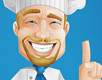 Cheerful Chef Cartoon Character
