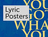 Lyric Posters